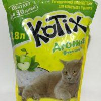 Kotix Aroma (Котикс Арома) силикагелевый наполнитель для кошачьего туалета с ароматом яблока, 3,8 л