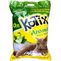Kotix Aroma (Котикс Арома) силикагелевый наполнитель для кошачьего туалета с ароматом яблока, 10 л