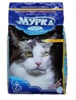 Наполнитель Мурка для кошачьего туалета комкующийся средний (синяя упаковка, 1,5-2,5 мм)