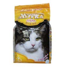 Наполнитель Мурка для кошачьего туалета комкующийся (желтая упаковка, 0,32-0,8 мм)