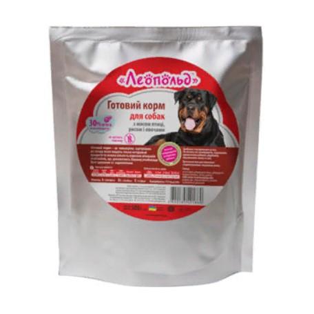 Консервы Леопольд (пауч) для собак с мясом птицы, рисом и овощами, 500 г
