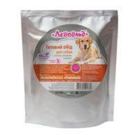 Консервы Леопольд (пауч) для собак с мясом, печенью и курицей, 500 г