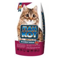 Сухой корм Пан Кот (Говядина) для кошек, 10 кг