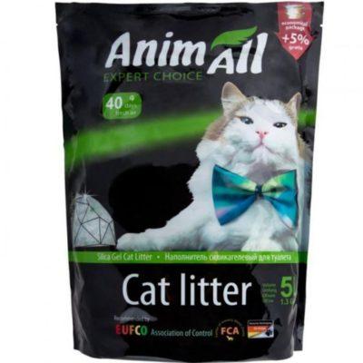 Силикагелевый наполнитель Animall (ЭнимАл зеленый холм) для кошачьего туалета, 5 л