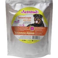 Консервы Леопольд (пауч) для собак с говядиной, рисом и овощами, 500 г
