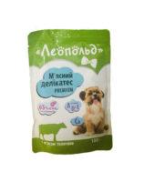 Консервы Леопольд (Мясной деликатес) для собак с мясом телятины, 100 г