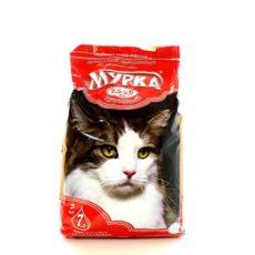 Наполнитель Мурка для кошачьего туалета впитывающий комкующийся крупный (красная упаковка, 2,5-5,0 мм)