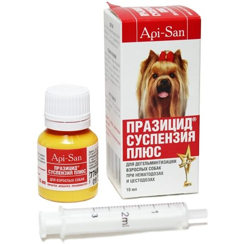 Суспензия Празицид Апи-Сан (Api-San) для взрослых собак, 10 мл