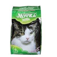 Наполнитель Мурка для кошачьего туалета мелкозерновой комкующийся (зеленая упаковка, 0,8-1,5 мм)