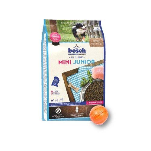 Сухой корм Бош Мини Юниор (Bosch Mini Junior) для щенков маленьких пород 3 кг и мяч Лайкер (LIKER) 5 см