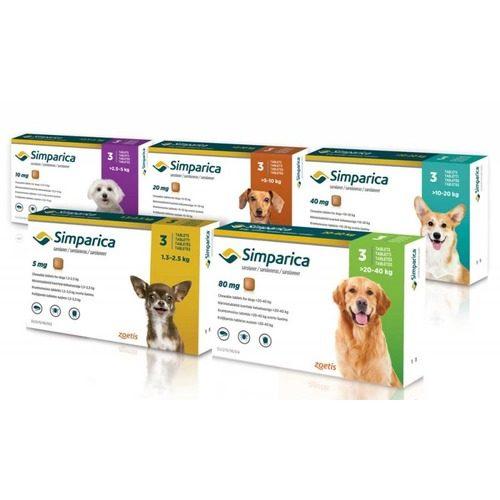 Таблетки от блох и клещей Симпарика (Simparica) для собак