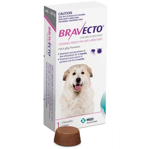 Жевательная таблетка Бравекто (Bravecto) от блох и клещей для собак