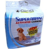 Пеленки Кроси Супер Напи Карбон (Croci Super Nappy Carbon) с активированным углем 84х57 см, 30 штук