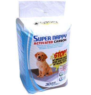 Пеленки Кроси Супер Напи Карбон (Croci Super Nappy Carbon) с активированным углем 57х54 см, 30 штук