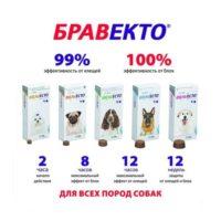 Жевательная таблетка Бравекто (Bravecto) от блох и клещей для собак 79872