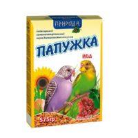 Корм для волнистых попугаев Природа Папужка Йод, 575 гр