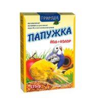 Корм для волнистых попугаев Природа Папужка Йод и Колор, 575 гр