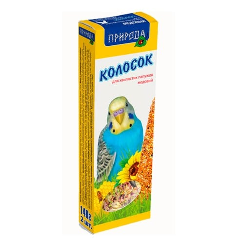 Колосок-лакомство для волнистых попугаев Природа Медовый, 140 гр