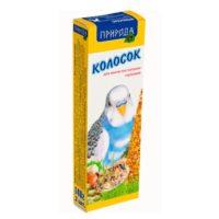 Колосок-лакомство для волнистых попугаев Природа Ореховый, 140 гр