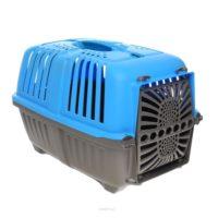 Переноска Пратико 1 пласт Блу (PRATIKO 1 plast Blue) для собак и кошек, пластиковая дверь