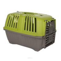 Переноска Пратико 1 пласт Грин (PRATIKO 1 plast Green) для собак и кошек, пластиковая дверь