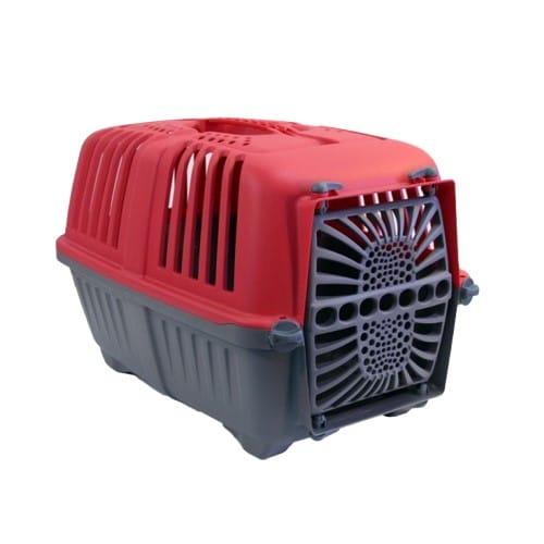 Переноска Пратико 1 пласт Ред (PRATIKO 1 plast RED) для собак и кошек, пластиковая дверь