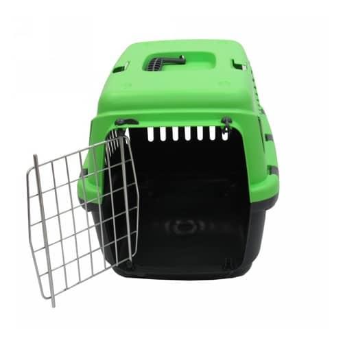Переноска Бергамо Гипси 1 Смол Грин (Bergamo GIPSY 1 Small Green) для собак и кошек, металлическая дверь