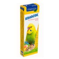 Колосок-лакомство для волнистых попугаев Природа Яичный, 140 гр