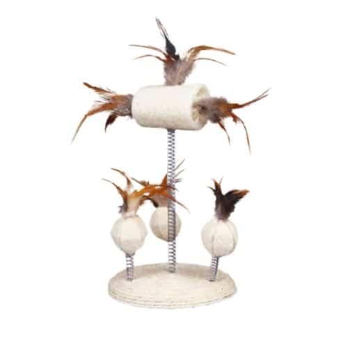 Игрушки на пружинах с перьями Трикси TX-40721 (Trixie) для котов