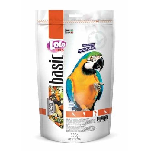 Корм для больших попугаев Лоло петс (Lolo pets food big parrots) в дой-паке