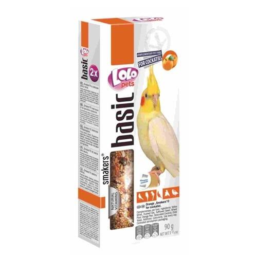 Колосок-лакомство для нимф Лоло петс (Lolo pets for cockatiels) с апельсином