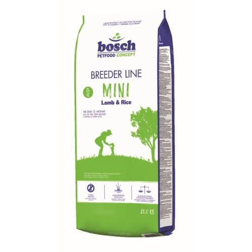 Сухой корм Бош Бридер Мини (Bosch Breeder Mini) для взрослых собак маленьких пород, ягненок и рис