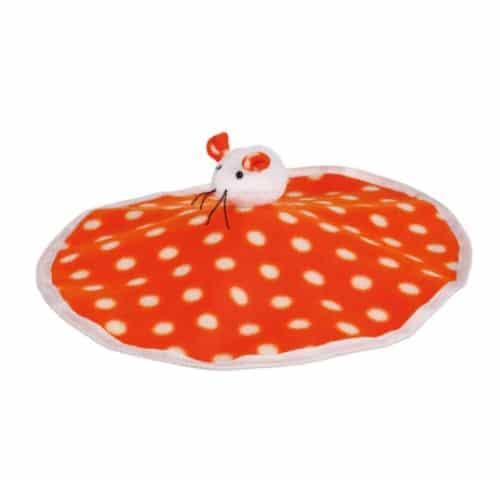 Коврик игровой с плюшевой мышкой Трикси TX-45757 (Trixie) для кота – 2 в 1