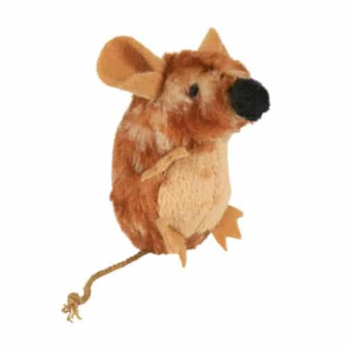 Плюшевая мышь с пищалкой Трикси TX-45785 (Trixie) для кота