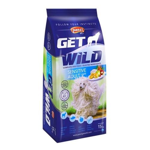 Сухой корм для собак Панзи ГетВайлд Эдалт Сенсетив (Panzi Get Wild Sensitive Adult Lamb) ягненок