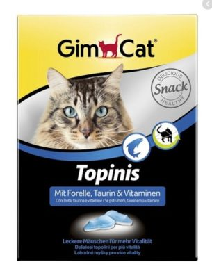Мышки-витамины, лакомства Джимкет (GimCat Topinis) форель, 220 гр/180 шт