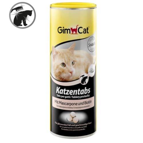 Таблетки-витамины, лакомства Джимкет (GimCat Katzentabs) маскарпоне и биотин, 425 гр/710 шт