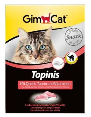 Мышки-витамины, лакомства Джимкет (GimCat Topinis) творог, 220 гр/180 шт