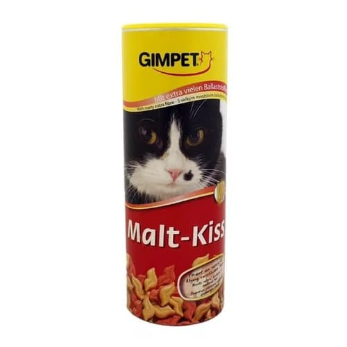 Поцелуйчики (губки)-витамины, лакомства для выведения шерсти Джимкет (GimCat Malt-Kiss), 450 гр