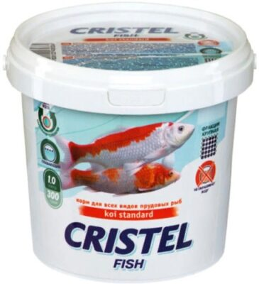 Корм для усиления окраса прудовых видов рыб Кристель Универсал (Cristel Koi Colour Universal), 1 л