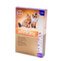 Капли от паразитов (блох и клещей) для кошек Адвокат (Bayer Advocate), от 4 до 8 кг