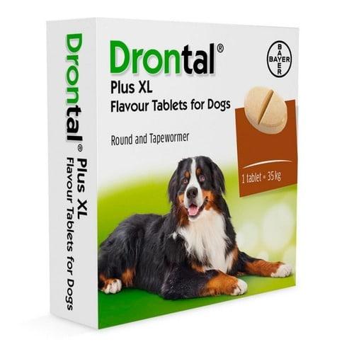 Препарат от глистов (гельминтов) для собак Дронтал Байер XL (Drontal BAYER XL), таблетка со вкусом мяса