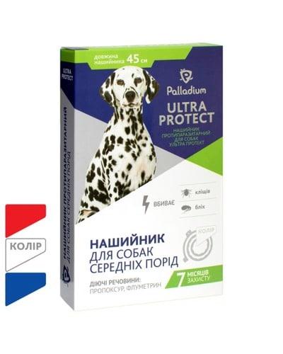 Ошейник от блох и клещей для собак средних пород Палладиум Ультра Протект (Palladium Ultra Protect), 45 см