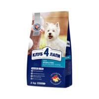 Сухой корм гипоаллергенный для взрослых собак малых пород Клуб 4 четыре лапы (CLUB 4 PAWS PREMIUM), ягненок и рис