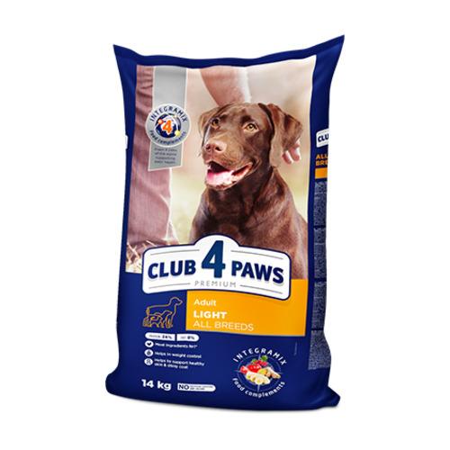 Сухой корм для взрослых собак всех пород Клуб 4 четыре лапы Контроль веса (CLUB 4 PAWS PREMIUM)