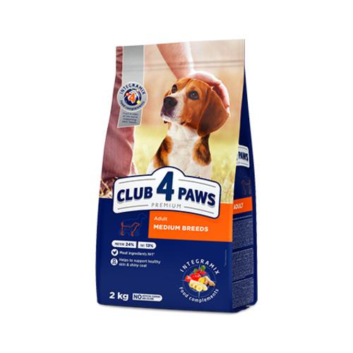 Сухой корм для собак средних пород Клуб 4 четыре лапы (CLUB 4 PAWS PREMIUM)