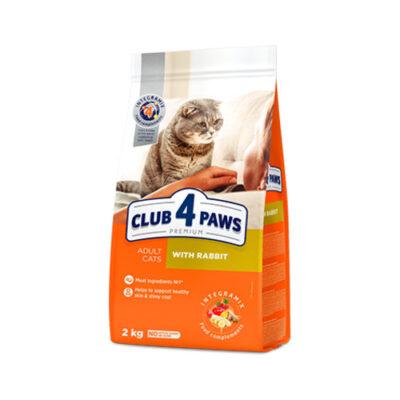 Сухой корм для взрослых кошек Клуб 4 четыре лапы (CLUB 4 PAWS PREMIUM) кролик