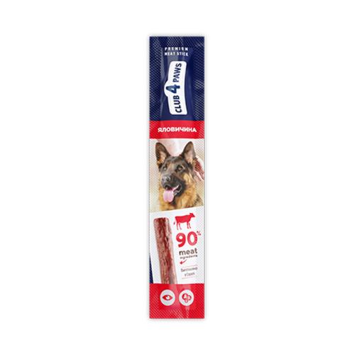 Мясная палочка-лакомство для взрослых собак Клуб 4 четыре лапы (CLUB 4 PAWS PREMIUM) говядина, 12 г