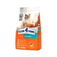 Сухой корм для стерилизованных или кастрированных котов Клуб 4 четыре лапы (CLUB 4 PAWS PREMIUM)
