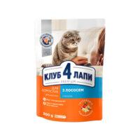 Сухой корм для взрослых кошек Клуб 4 четыре лапы (CLUB 4 PAWS PREMIUM) лосось